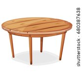cartoon wood table ... | Shutterstock .eps vector #680387638