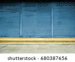 corrugated metal sheet slide... | Shutterstock . vector #680387656