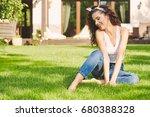 lovely girl spends time in the... | Shutterstock . vector #680388328