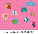 healthcare poster with human... | Shutterstock .eps vector #680390038