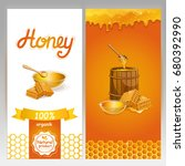 natural honey advertising for... | Shutterstock .eps vector #680392990