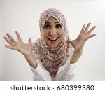 malay woman with surprise... | Shutterstock . vector #680399380
