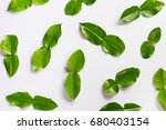 in bergamot on a white... | Shutterstock . vector #680403154