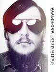 studio portrait of caucasian...   Shutterstock . vector #680404996