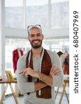 portrait of smiling male... | Shutterstock . vector #680407969