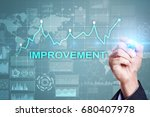 improvement graph on virtual... | Shutterstock . vector #680407978