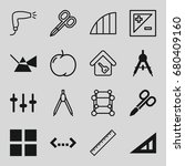 geometric icons set. set of 16... | Shutterstock .eps vector #680409160