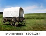 A Pioneer Covered Wagon On The...
