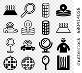 mirror icons set. set of 16... | Shutterstock .eps vector #680414038