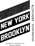 new york brooklyn sport wear... | Shutterstock .eps vector #680414278