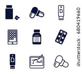 tablet icons set. set of 9... | Shutterstock .eps vector #680419660