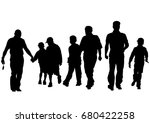 families with child on white... | Shutterstock . vector #680422258