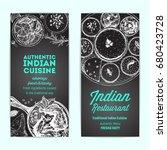 indian food vintage design...   Shutterstock .eps vector #680423728