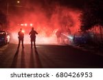 firefighters and police... | Shutterstock . vector #680426953