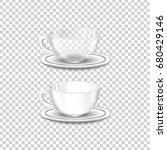 glass   ceramic cup vector... | Shutterstock .eps vector #680429146