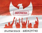 indonesia independence day... | Shutterstock .eps vector #680429740