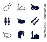 turkey icons set. set of 9...   Shutterstock .eps vector #680433460