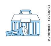 fishing kit box with lantern