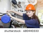 young woman engineer setup and... | Shutterstock . vector #680440333