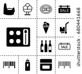product icon. set of 13 filled... | Shutterstock .eps vector #680441668