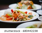 vietnamese cuisine dish... | Shutterstock . vector #680442238