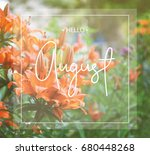 Hello August Greeting Card Wit...