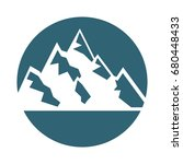 big mountains isolated icon | Shutterstock .eps vector #680448433