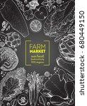 healthy food frame vector... | Shutterstock .eps vector #680449150