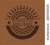 between love and hate wood... | Shutterstock .eps vector #680450020