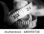 tape measure. | Shutterstock . vector #680450728