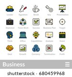 outline icons thin flat design  ... | Shutterstock .eps vector #680459968