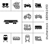 train icon. set of 13 filled... | Shutterstock .eps vector #680461450