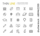 collection of education thin... | Shutterstock .eps vector #680462200