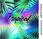 summer tropical design with... | Shutterstock .eps vector #680474620