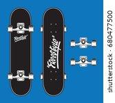skate board sport typography ...   Shutterstock .eps vector #680477500