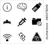 set of 9 miscellaneous icons... | Shutterstock .eps vector #680478040