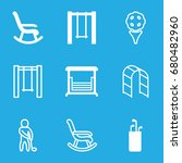 swing icons set. set of 9 swing ...   Shutterstock .eps vector #680482960