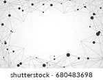 abstract polygon technology... | Shutterstock .eps vector #680483698