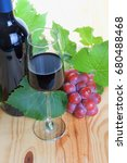 red wine. | Shutterstock . vector #680488468