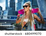 summer lifestyle image of... | Shutterstock . vector #680499070