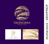 tropicana logo. resort and spa... | Shutterstock .eps vector #680499829
