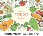 healthy food frame vector... | Shutterstock .eps vector #680501470