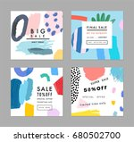 creative social media sale... | Shutterstock .eps vector #680502700