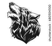 wolf head | Shutterstock .eps vector #680504500