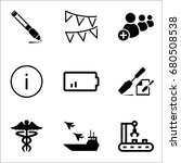 set of 9 miscellaneous icons... | Shutterstock .eps vector #680508538