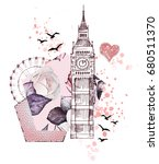 london   poster design with... | Shutterstock . vector #680511370