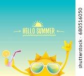 hello summer rock n roll vector ... | Shutterstock .eps vector #680516050