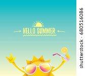 hello summer rock n roll vector ... | Shutterstock .eps vector #680516086