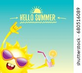 hello summer rock n roll vector ... | Shutterstock .eps vector #680516089
