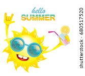 hello summer rock n roll vector ... | Shutterstock .eps vector #680517520